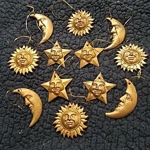 Sun moon stars Christmas ornaments